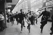 Punks.  Oxford St.  Demo. Police.
