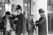 Punks.  London.   Oxford St. Police.