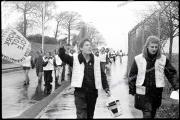 CAYU/RTW.  Right to work march scotland.  Dennis Ramone.  East Kilbride to Glasgow. Rolls Royce Factory.
