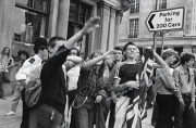 skinheads.  facists.  right wing . anti troops out demo