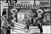 Blackpool TUC.  Shotton Corby Steel Workers.  Edinburgh Unions flag. NUM placards.