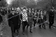 Punks. Police.  London. 1980.