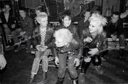 Punk girls at gig