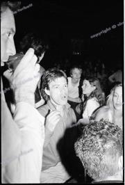 Mick Jagger.  Charlie Watts.   jerry Hall.  Stray Cats gig.